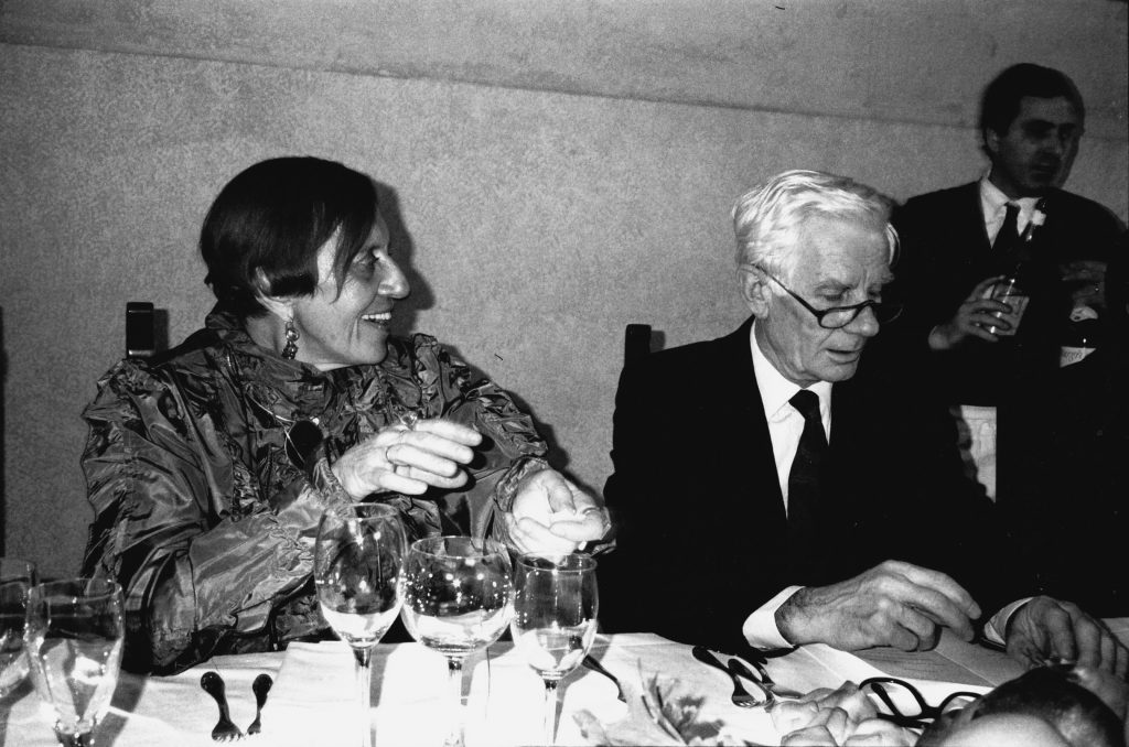 con Enrico Castellani, Mantova 1993, ph. Giorgio Colombo