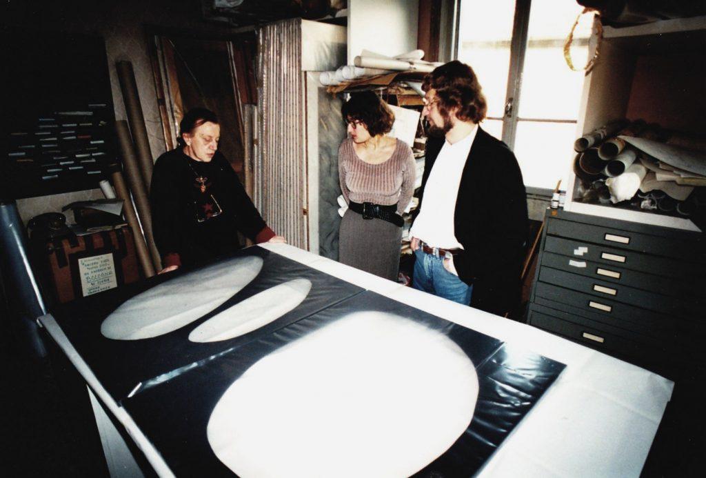 con il direttore del museo di dortmund, milano 1995
