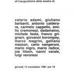 1981 Studiotre, Milano